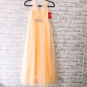 JJs House | yellow formal tulle gown NWT